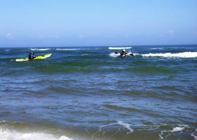 kayaker surfing matanzas inlet