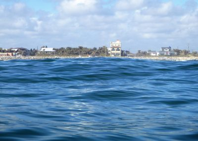 looking back towards shor matanzas inlet