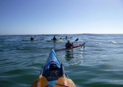 long period swell with 5 kayakers matanzas inlet