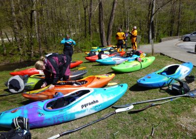 gearing up for the natahala river