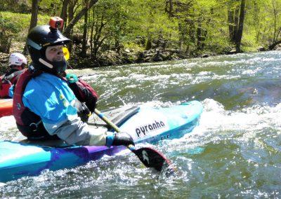 kayak surfing pigeon river