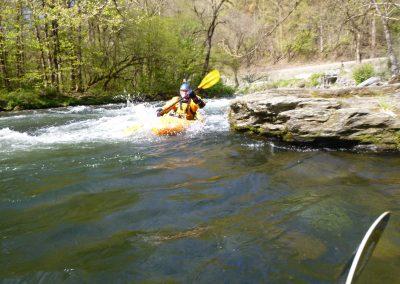catching an eddy on the natahala river