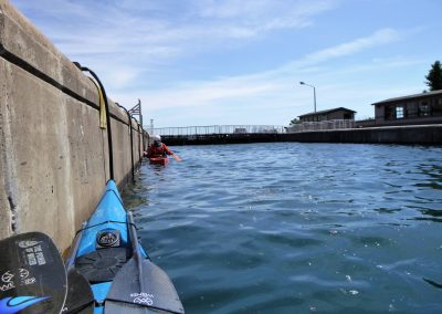 kayaker in soo locks