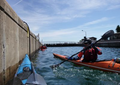 draw stroke in kayak at soo locks