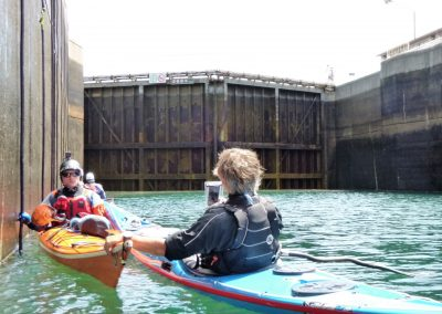 2 kayaks in the soo locks