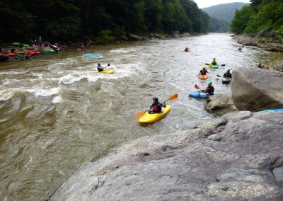wave train at swimmers rapid