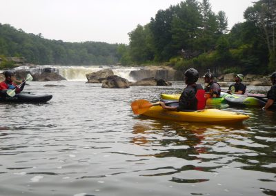 kayakers looking at youghiogheny falls