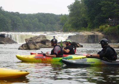 kayakers below youghiogheny falls