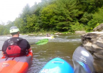 surfing a hole on the yough river